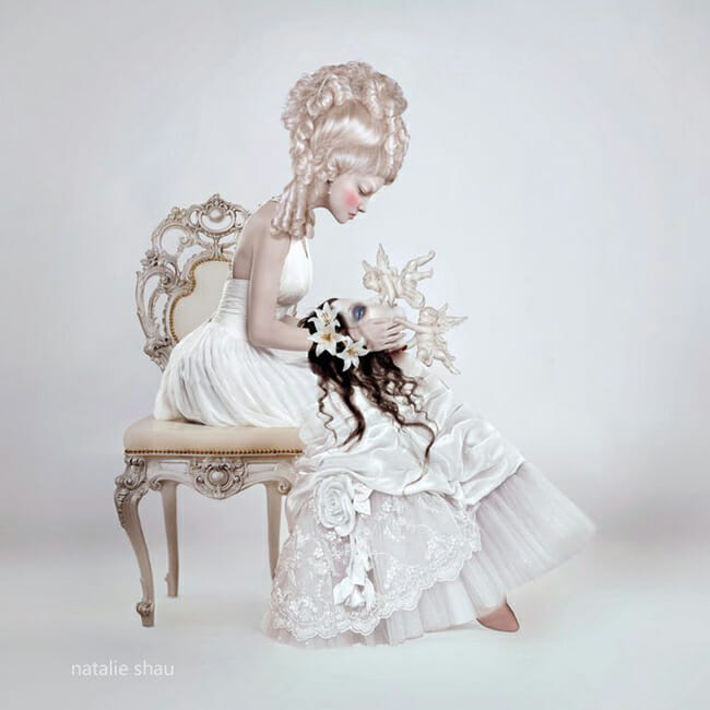 Gothic - Dissection and Suture - a special gothic themed art exhibition at Vanilla Gallery (Tokyo, Japan) - art by Natalie Shau