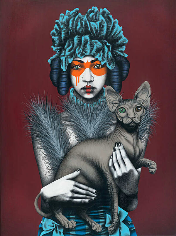 """Canine Feline"" by Fin DAC @ CAVE Gallery"