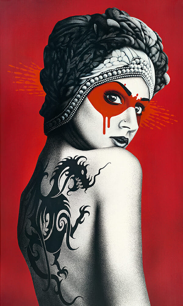 """Deadly Dragon"" by Fin DAC @ CAVE Gallery"