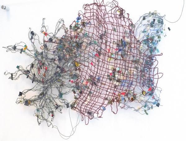 thread bare group exhibition, Susan Kurland, thread/bare, threadbare, brand library