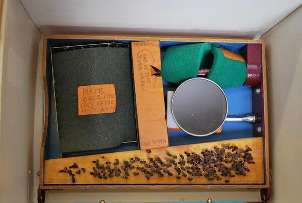 bob privitt, packaged art for shipping, assemblage