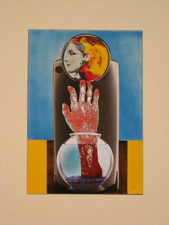 fish bowl lady, bob privitt, mixed media, body worlds