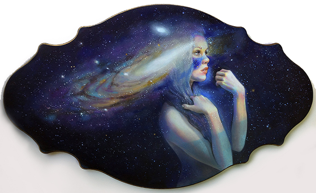 """Andromeda by Jel Ena - A part of """"Celestial"""" group exhibition at Alexi Era Gallery - preview by beautiful.bizarre"""