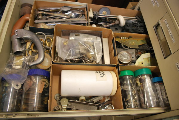 bob privitt, assemblage, art supplies