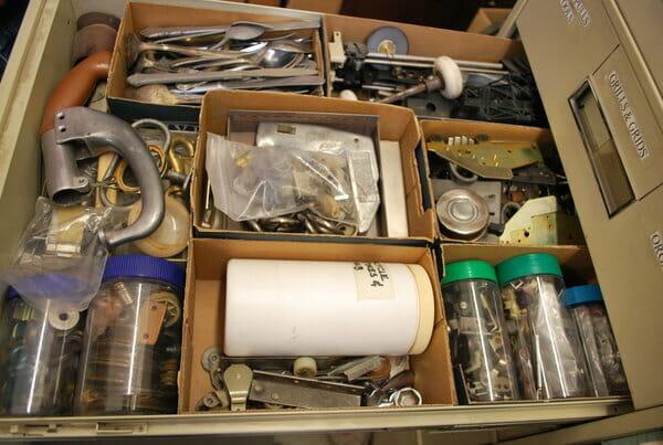 bob privitt, assemblage, art supplies