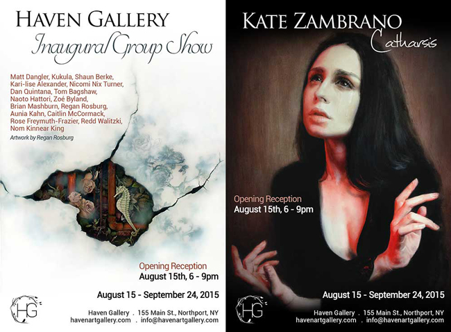 "Haven Inaugural Groups Show and Kate Zambrano's Solo Show 'Catharsis"" @ Haven Gallery, Northport, NY - preview by beautiful.bizarre"