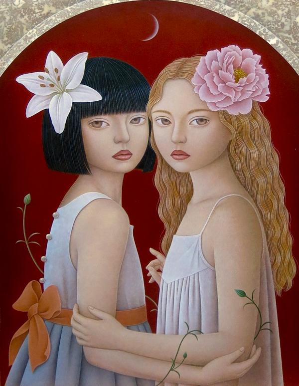 Eri Mizuno - ephemeral ~ Territory of girls 「ephemeral~少女たちの領域」 @ Jiro Miura Gallery - via beautiful.bizarre