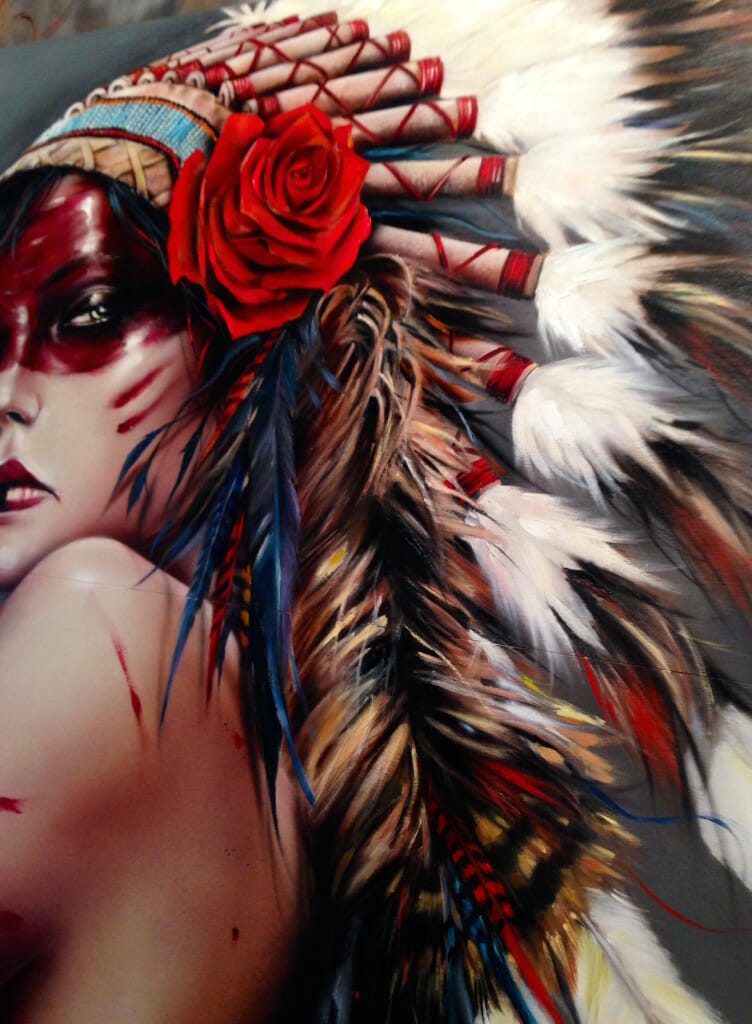 Beautiful Bizarre, Gallery, Show, Brian Viveros, Viveros, Dirtyland, Pretty in Plastic, Thinkspace, Thinkspace Gallery, Art, Artist, Painting, Women, Power