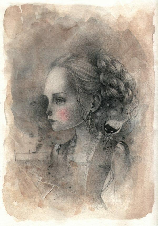 'Victoria' by Ania Tomicka - Victoriana @ Alexi Era Gallery - via beautiful.bizarre