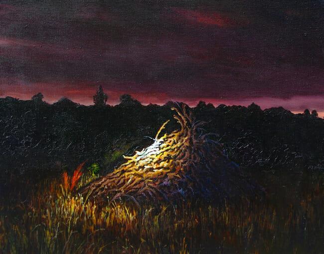 Ben Sheers - Pyre | Night @ 19Karen Contemporary Artspace - via beautiful.bizarre