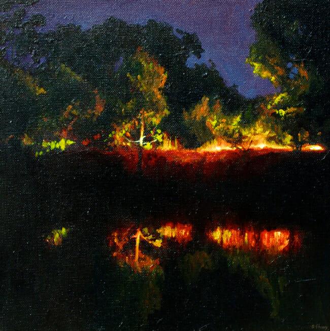 Ben Sheers - Dam Reflection | Night @ 19Karen Contemporary Artspace - via beautiful.bizarre