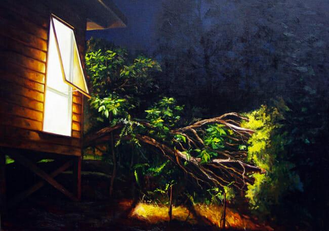 Ben Sheers - Studio at Night | Night @ 19Karen Contemporary Artspace - via beautiful.bizarre
