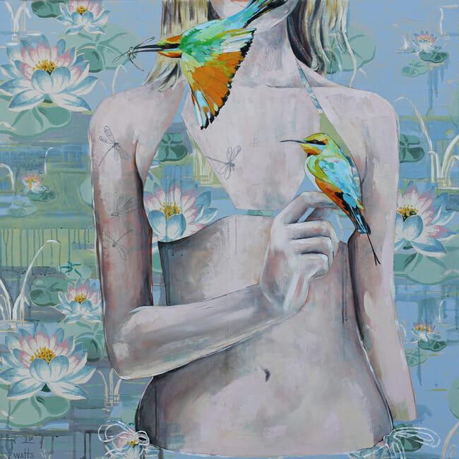 Jessica Watts - A Good Catch | Debutante @ 19Karen Contemporary Artspace - via beautiful.bizarre