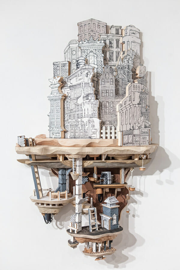 Impossible City Sculptures of Luke O'Sullivan