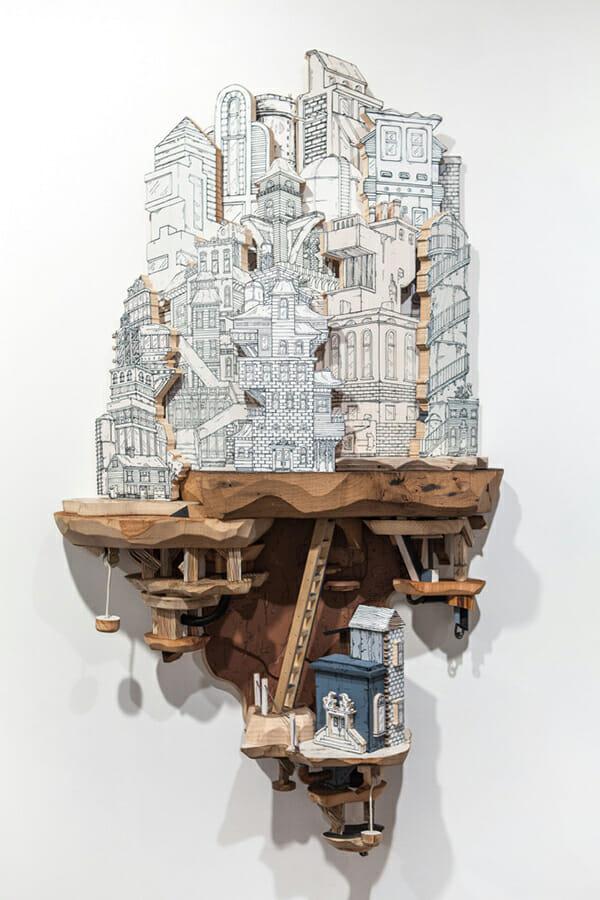 Impossible City Sculptures of Luke O'Sullivan