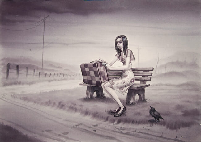 """Leaving So Soon"" by Annie Owens @ Antler Gallery PDX"