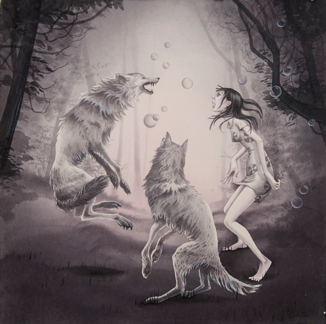 """When The Moon Is Full"" by Annie Owens @ Antler Gallery PDX"