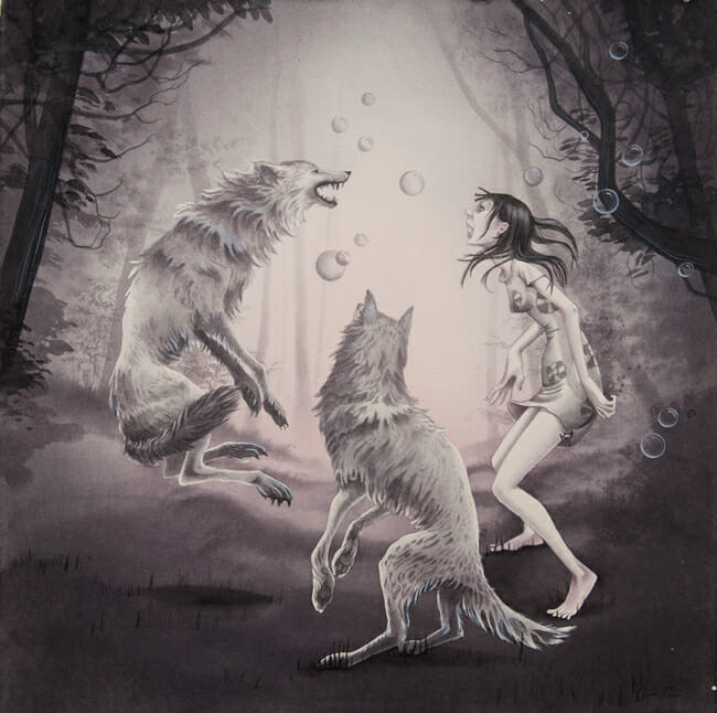 """""""When The Moon Is Full"""" by Annie Owens @ Antler Gallery PDX"""