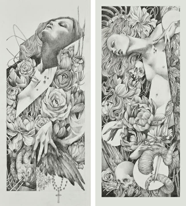 """""""Litany"""" and """"Spire"""" by Craww @ Antler Gallery PDX"""