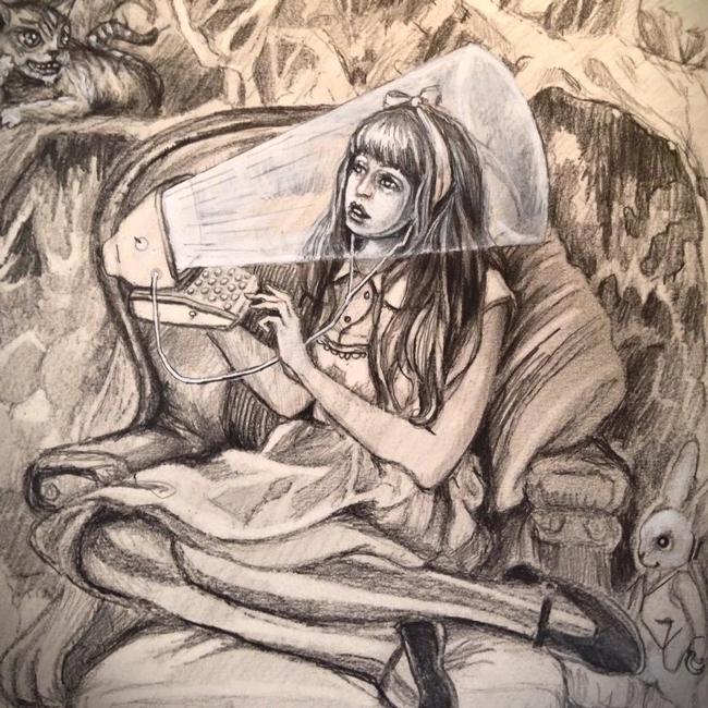 Lori Nelson - Dark Alice group exhibition @ Alice and Beanstalks Gallery - beautiful.bizarre