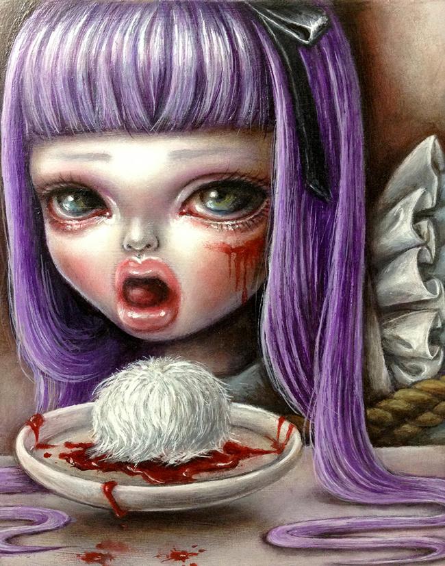 Mayuko Nakamura - Dark Alice group exhibition @ Alice and Beanstalks Gallery - beautiful.bizarre