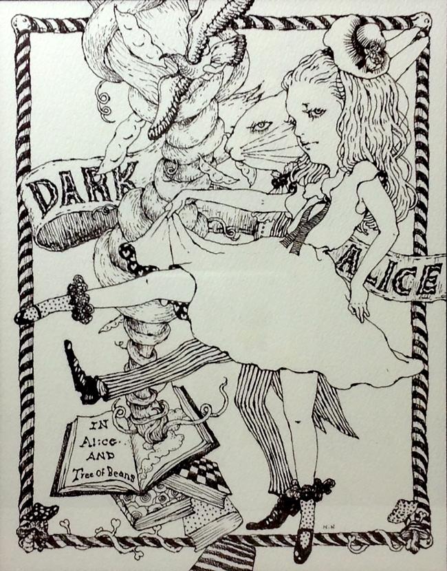 Nana Nishio - Dark Alice group exhibition @ Alice and Beanstalks Gallery - beautiful.bizarre