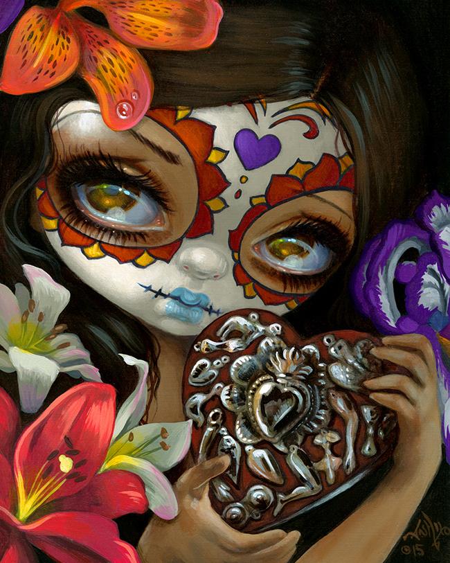 Milagros Corazon by Jasmine Becket-Griffith @ Alexi Era Gallery - beautiful.bizarre