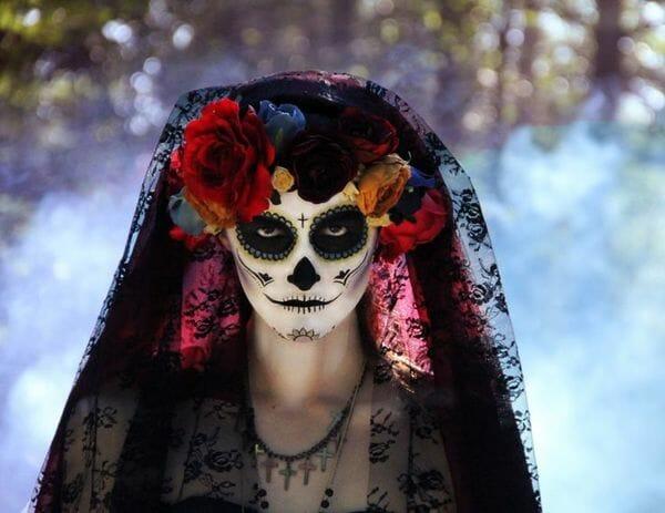 john greene, dia de los muertos photography, sugar skills, face paint