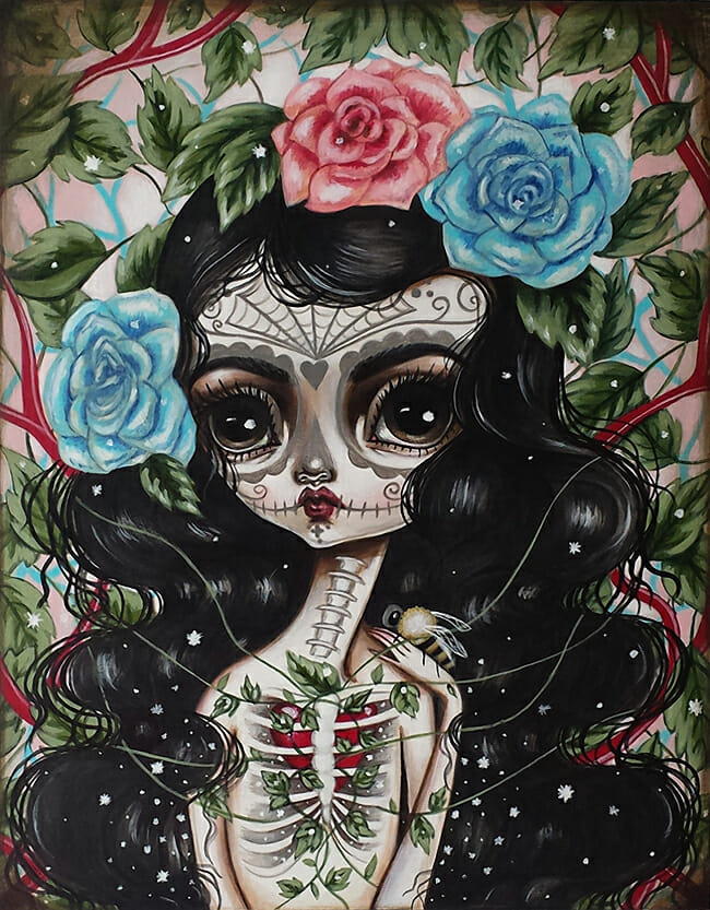 Heart's Growth by Lauren Saxton / Fair Rosamund @ Alexi Era Gallery - beautiful.bizarre