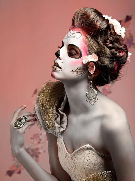 lloyd k barnes, dia de los muertos photography, sugar skills, face paint