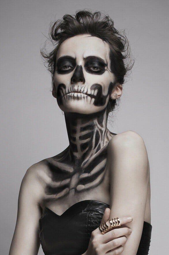 pauline darley, dia de los muertos photography, sugar skills, face paint