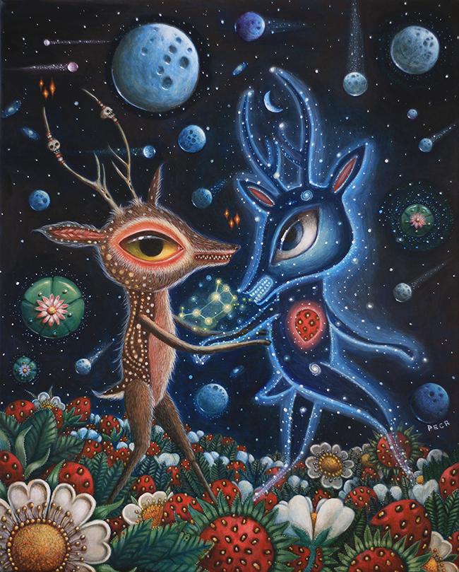 "Hopi Dream ""The Message"" by Peca @ Alexi Era Gallery - beautiful.bizarre"
