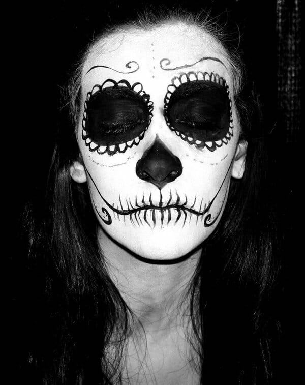 skuldrom, dia de los muertos photography, sugar skills, face paint