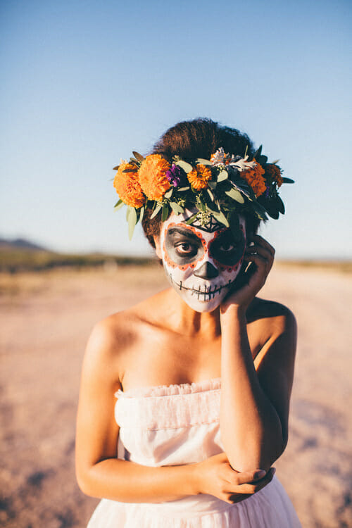 taylord photography, dia de los muertos photography, sugar skills, face paint