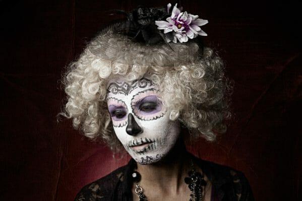 tom kubik, dia de los muertos photography, sugar skills, face paint