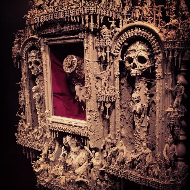 jason stieva, piper and the wisemen, shallow grave studios, assemblage art, gothic art, dark art, skull art