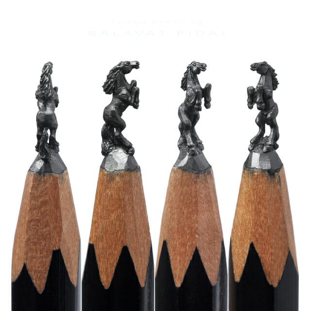 Salavat Fidai's Pencil-Tip Micro-Sculptures