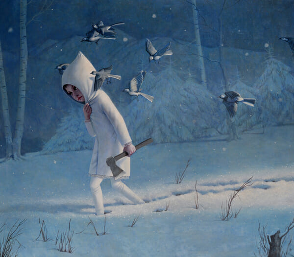 'Woodsman' by Jana Brike - Prints on Wood Show @ Distinction Gallery, Escondido
