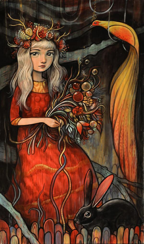 'Grace' by Kelly Vivanco - Prints on Wood Show @ Distinction Gallery, Escondido - via beautiful.bizarre