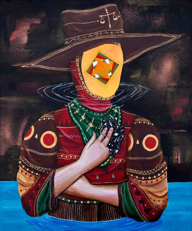 'Inner Balance' by Skount @ 19 Karen Contemporary Art Space - via beautiful.bizarre