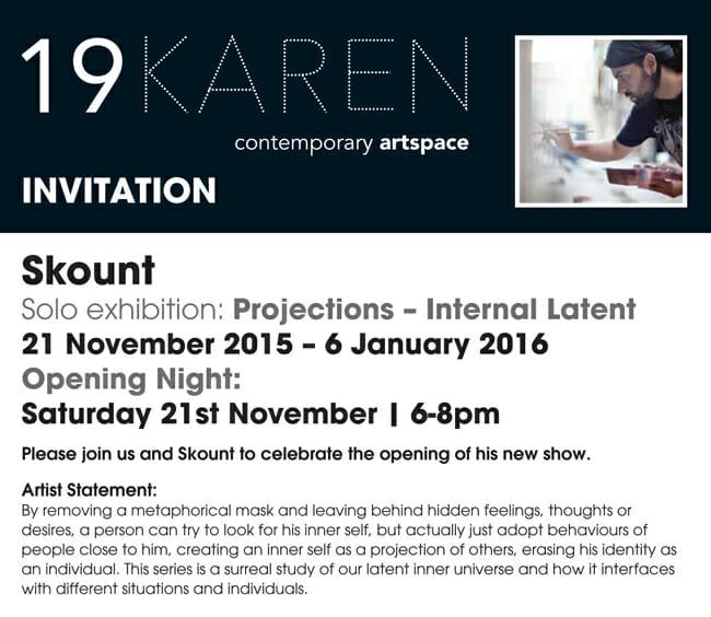 Skount 'Projections: Internal Latent' @ 19 Karen Contemporary Artspace - via beautiful.bizarre