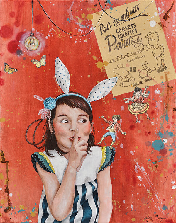 'L'Amusant Cavalier (The Fun Dancer)' by Virginie Mazureau - Prints on Wood Show @ Distinction Gallery, Escondido