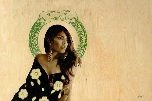 Artist Jodie Herrera's strong female figure portraits
