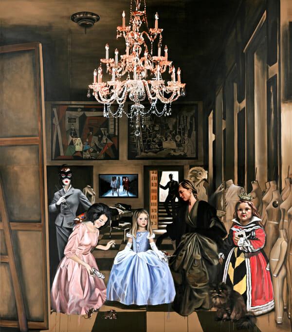 """Casting Fairytales (after Velazquez)"" by Leslie Batty"