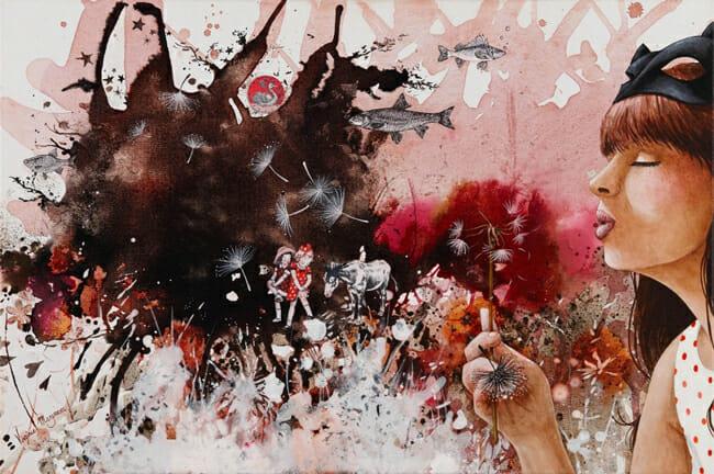 """Les Pissenlits / Dandelions"" by Virginie Mazureau @ Arthatch / Distinction Galery, Escondido - via beautiful.bizarre"