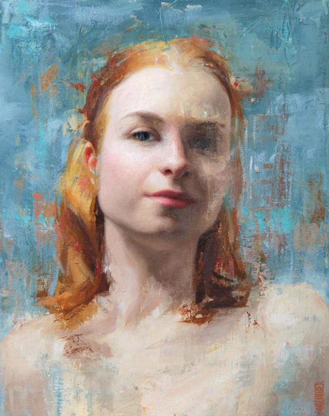 'Kristen' by Elizabeth Zanzinger - Smashing Into 2016Smashing Into 2016 @ Smash Gallery + LA Art Show via beautiful.bizarre