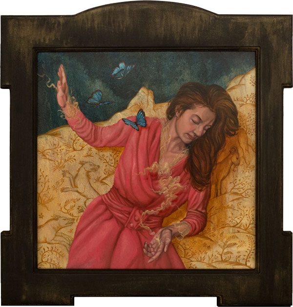 'Heroine (Intercessor)' by Paul Romano - A part of his solo exhibition 'Interim' at Paradigm Gallery + Studio (Philadelphia) - via beautiful.bizarre