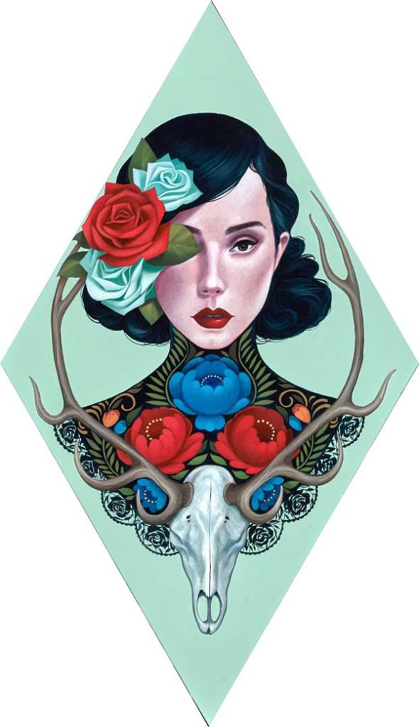 'Reina Del Bosque' by Gustavo Rimada @ Haven Gallery, New York - via beautiful.bizarre