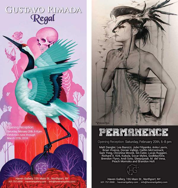 Gustavo Rimada 'Regal' + 'Permanence' Group Show @ Haven Gallery, Long Island, New York - via beautifu.bizarre