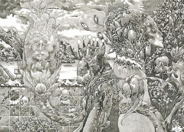 "Richard A. Kirk, ""Dawn Botanist, Tears of the Poppy"" @ Haven Gallery - via Beautiful Bizarre"